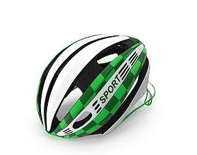Green Bicycle Helmet 3D model
