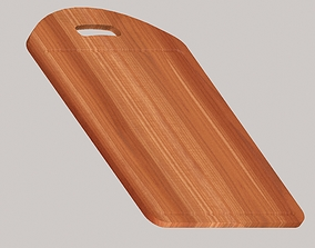 Wooden chopping board 3D model game-ready