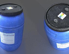 3D asset WATER BARREL