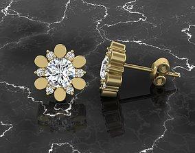 Jewelry Earring gem 3D print model