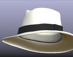 3D model PBR Stylish White Fedora Hat