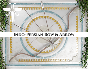Ancient Indo Persian Bow and Arrow 3D asset