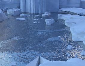 3D model snow continent
