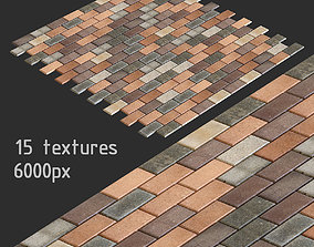 Paving slabs and 15 high resolution textures 3D model