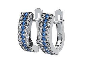 Gem Earrings B-system 3D print model