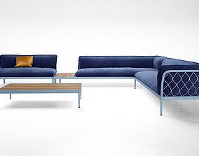 Tait Trace sofa Modular 3D model