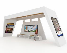 BUS STATION 6 3D model