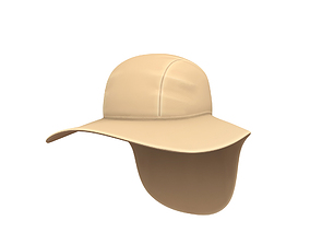 Fishing Flap Hat 3D model
