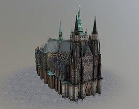 Prague Vitus Cathedral 3D asset