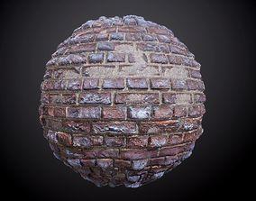 Brick Wall Concrete Decay Seamless PBR 3D model