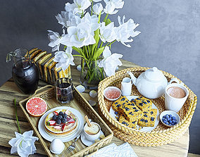 3D Trays with breakfast