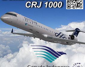 3D model Bombardier CRJ 1000 Garuda Indonesia SkyTeam