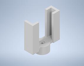 FPV camera bracket with servo mount 3D printable model