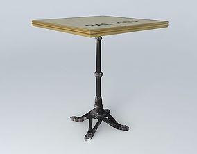 table BISTRO TABLE SQUARE ARDAMEZ Company 3D