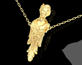 3D print model Caryatid Pendant Jewelry Gold pendants