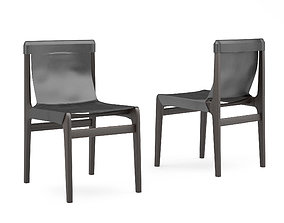 3D Cb2 Burano leather sling chair