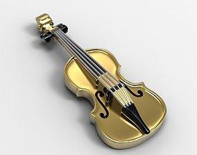 Necklace violin 3d printable music jewelry pendant 3dm 1