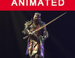 3D model crusader knight
