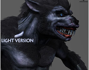 3D asset Animated Werewolf Light Version
