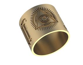3D printable model masons Ring Illuminati