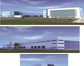 3D collection industrial buildings