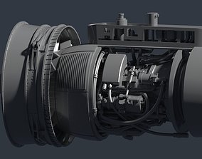 TF34-GE Jet Engine 3D print model