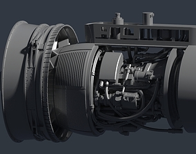 TF34-GE Jet Engine 3D print model