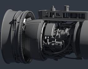 electric TF34-GE Jet Engine 3D printable model