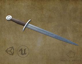 Medieval Dagger 3D model VR / AR ready PBR