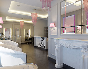 Hair and Beauty salon interior 2 3D