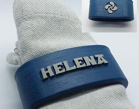 HELENA Napkin Ring with lauburu 3D print model