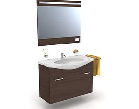 3D model Bathroom Sink And Mirror