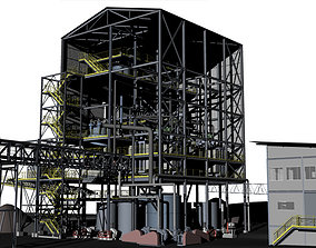 3D model Dewatering mining plant for presentations and