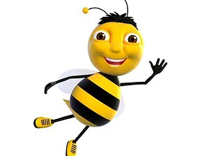 3D asset Cartoon Bee Character model