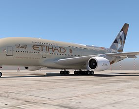 ETIHAD AIRWAYS A380 3D