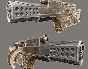 Futuristic Weapon Concept Low-Poly 3D model