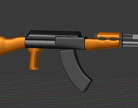 3D AK-47 cartoon