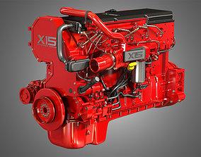 3D model X15 Heavy Duty Truck Engine - 6 Cylinder Diesel
