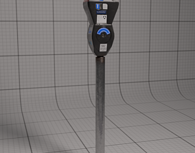 Parking Meter 3D asset low-poly