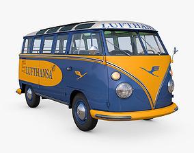 3D Volkswagen T1 Lufthansa