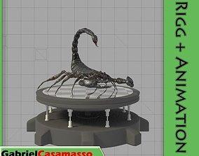 3D Black Scorpion