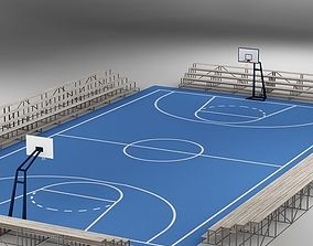 Basketball Court 02 basket 3D