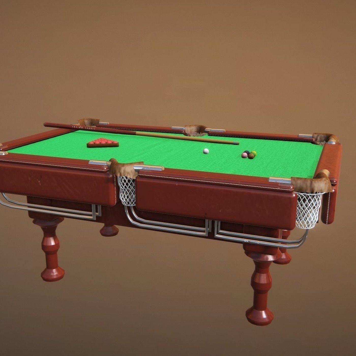 snooker table 3d model