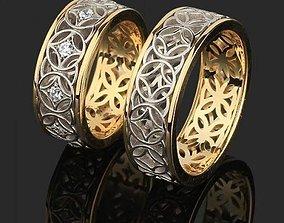 two rings 3D model