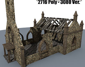 3D model Ruined House 3a