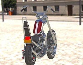 Motorcycle chopper ghost rider 3D print model