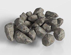Stone Rock set Unity 3D asset