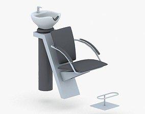 0897 - Hairdresser Chair 3D asset