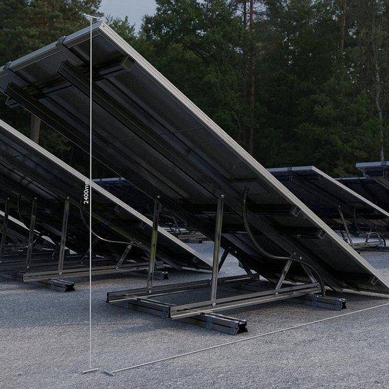 Solar Panels (Rigged) - Blender-2.93