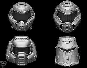 Doom helmets set 3D printable model